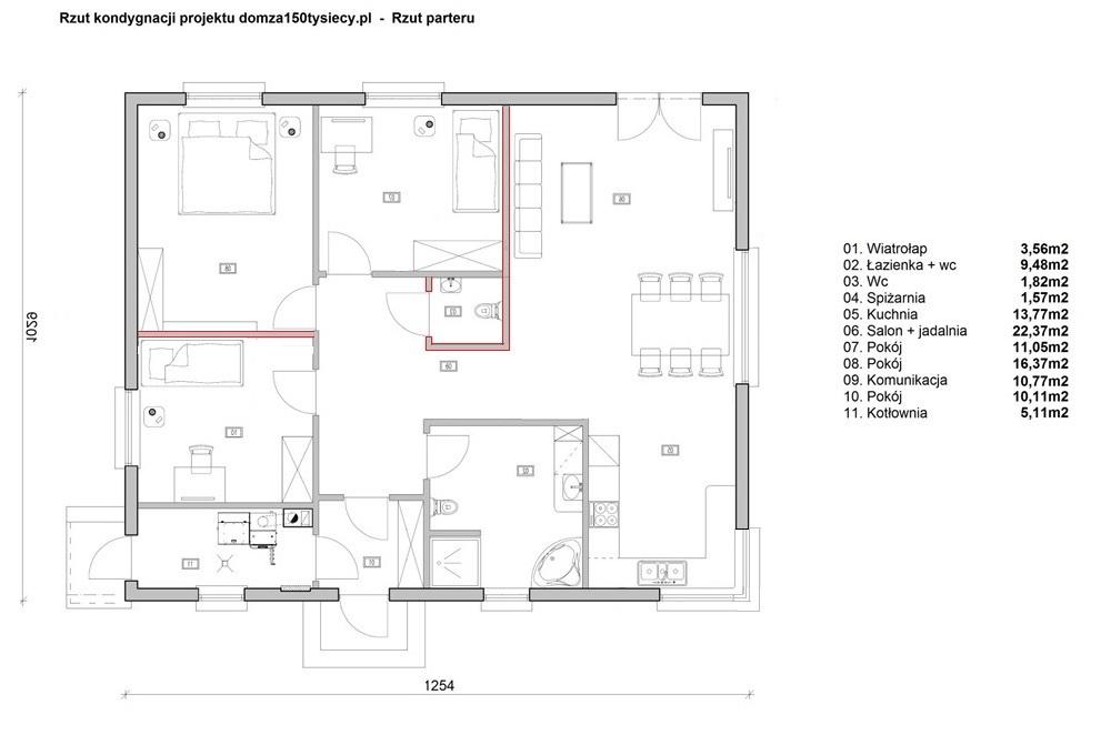 Rozplanowanie Pomieszczen 68 Budowa Domu Za 150 Tys