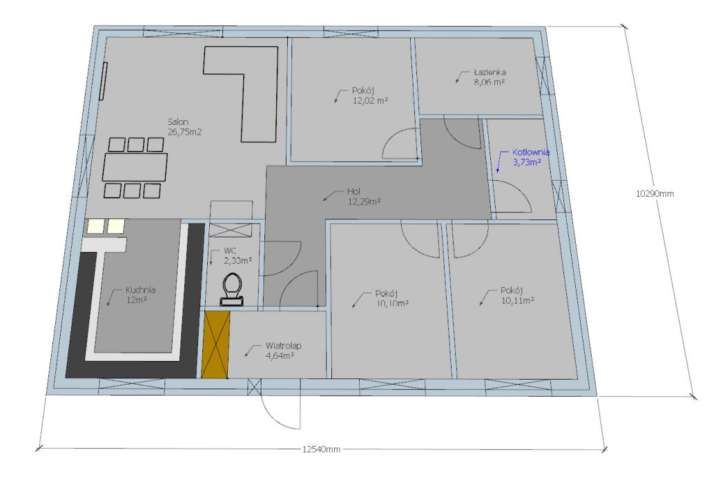 Rozplanowanie Pomieszczen 34 Budowa Domu Za 150 Tys